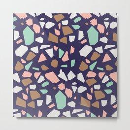 Colorful Modern Terrazzo Vector Pattern Metal Print