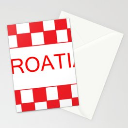 Red chess board Croatia Stationery Cards