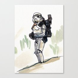 Sand Trooper Canvas Print