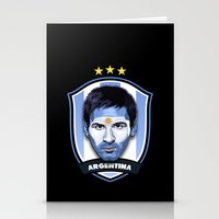 messi Stationery Cards featuring Messi by Rudi Gundersen