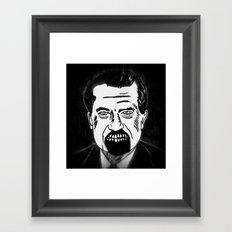 37. Zombie Richard Nixon  Framed Art Print