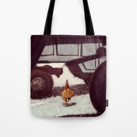 chicken Tote Bags featuring Chicken by Javio