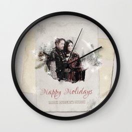 OUAT HAPPY HOLIDAYS // OUTLAW QUEEN Wall Clock