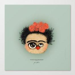 """""""Pies para qué los quiero si tengo alas para volar""""  (Frida Kahlo) Canvas Print"""