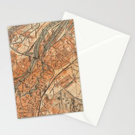 Vintage Map of Bremen Germany (1910) Stationery Cards