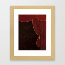 Backstage Framed Art Print