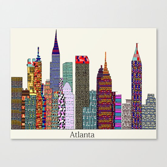 Atlanta city  Canvas Print
