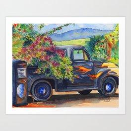 Hanapepe Truck Art Print