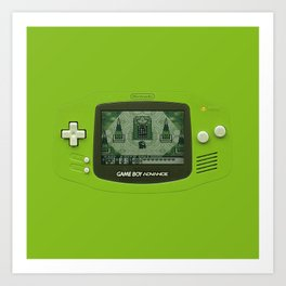 Gameboy Zelda Link Art Print