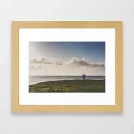 Mendocino Whale Watchers Framed Art Print