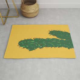 Cactus in Mexico City Illustrated Rug