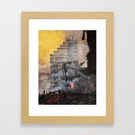 Ground Zero Recovery Framed Art Print