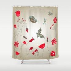Tatemae Japanese Ochre Shower Curtain