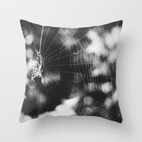 tangled Throw Pillows featuring Tangled by Christine Hall