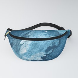 4 am Thoughts [4]: a minimal abstract painting in blue by Alyssa Hamilton Art Fanny Pack