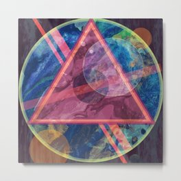 Mystic Astrology Geometry Metal Print