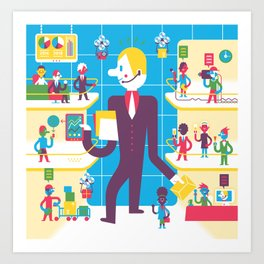 The Manager Art Print