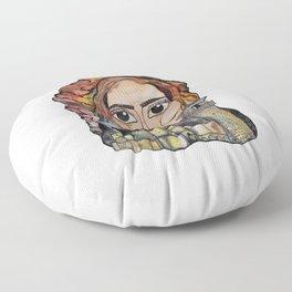 Woman in Refuge Floor Pillow