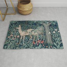 William Morris Forest Deer Greenery Tapestry Rug