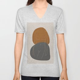 Line Female Figure 81 Unisex V-Neck
