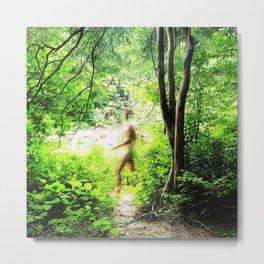 Walking in the Woods Metal Print