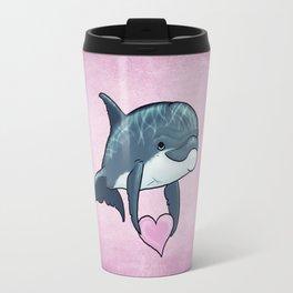 Love Ya! ~ Baby Dolphin by Amber Marine ~ Pink ~ (Copyright 2014) Travel Mug