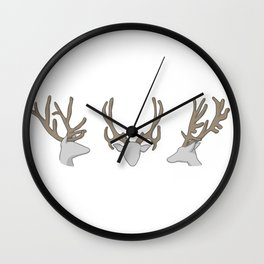 Three little Deer Wall Clock