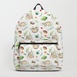 Tropical Sloths Pattern Backpack