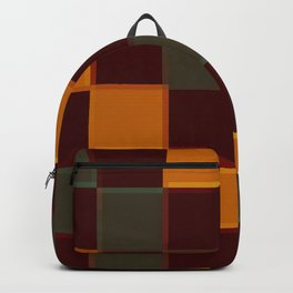Vintage Earth Tones CHeckerboard Backpack