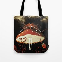 moulin rouge Tote Bags featuring Rouge by zazacadabra