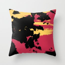Ishitaro - Abstract Colorful Batik Boheme Art Throw Pillow