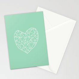 Abstract Heart Mint Stationery Cards