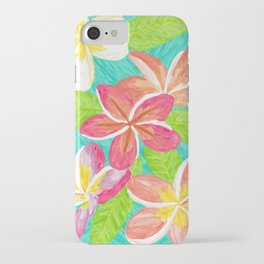 Plumeria love iPhone Case