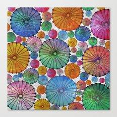 Abstract Floral Circles 5 Canvas Print