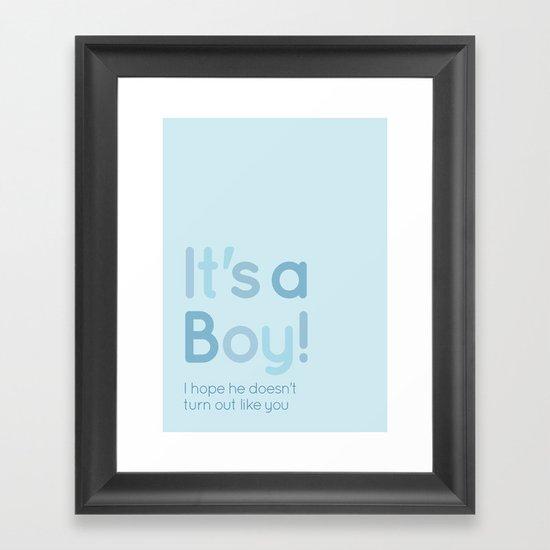 It's a boy! Framed Art Print