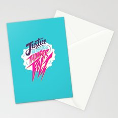 Justice Like A Thunderbolt Stationery Cards