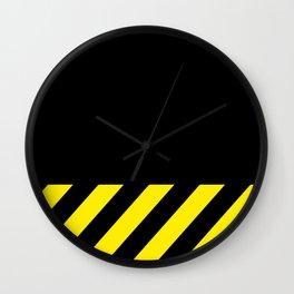 """CAUTION"" Wall Clock"