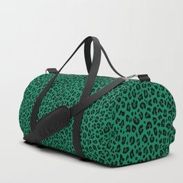 LEOPARD PRINT in GREEN | Collection : Leopard spots – Punk Rock Animal Print Duffle Bag