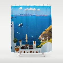 Santorini ii Shower Curtain