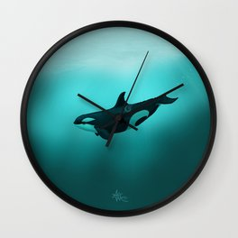 """Lost in Paradise"" by Amber Marine ~ Killer Whale ~ Orca ~ Original Version ~ (Copyright 2015) Wall Clock"