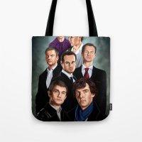 sherlock Tote Bags featuring Sherlock by tillieke