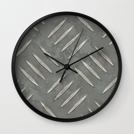 Old Worn Looking Metal Floor Wall Clock