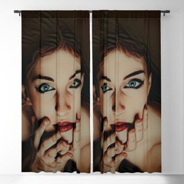 """""""The House That Glows (With Almost No Help)"""" by Jeanpaul Ferro Blackout Curtain"""