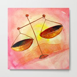 Libra Zodiac Horoscope Painting Metal Print