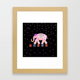elephant and sky . Framed Art Print