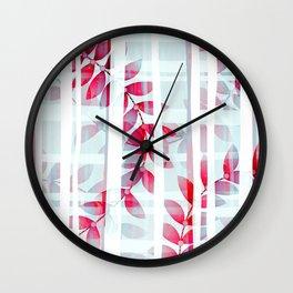 Abstract Foliage Pattern Wall Clock