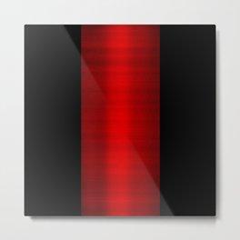 Red Metallic & Black Striped Border Metal Print