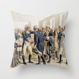 Washington's Farewell to Officers by H.A. Ogden (1893) Throw Pillow