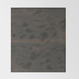Vintage leather texture Throw Blanket
