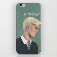 slytherin iPhone & iPod Skins featuring Slytherin by Sara Meseguer